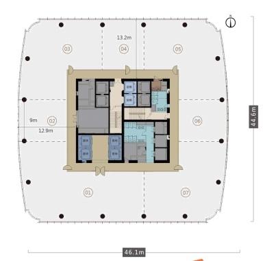 恒毅大厦(原奥金大厦)平面图