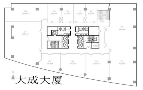 金隅大厦(大成大厦)金隅大厦平面图